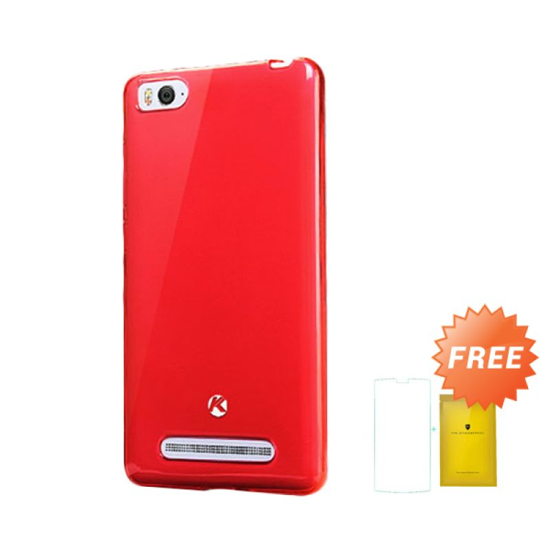 Kalaideng Air Series Soft Merah Casing for Xiaomi Mi4i or Mi 4i + Tempered Glass
