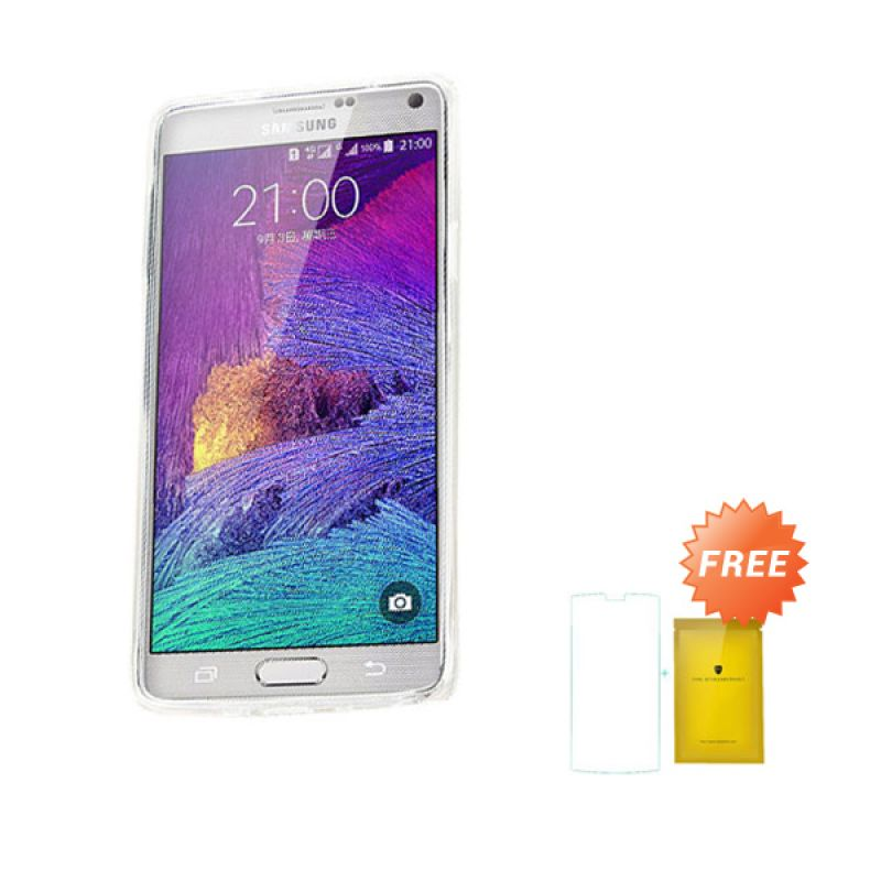 Kalaideng Air Series Transparant Soft Case Casing for Samsung Galaxy Note 4 + Tempered Glass Screen Protector