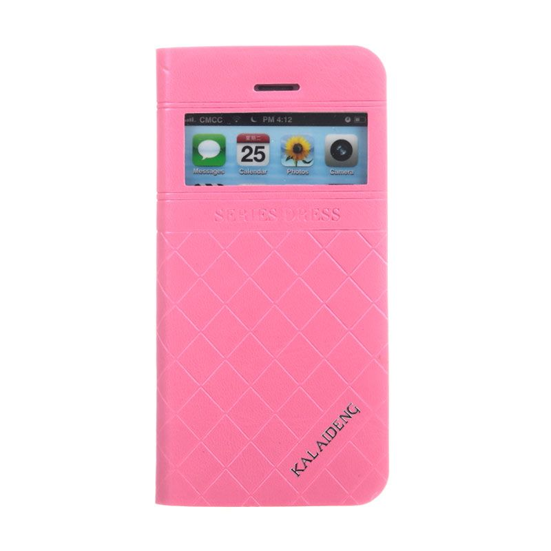 Kalaideng Dress Series Pink Leather Casing for iPhone 5 or 5S or SE