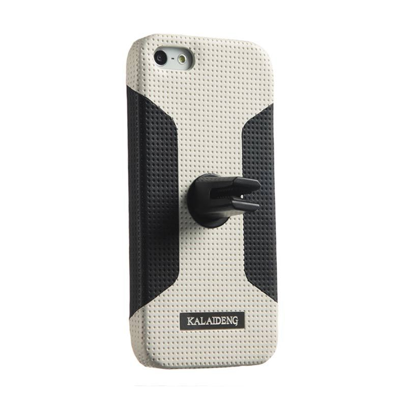 Kalaideng Drive Car Case Stand Back Cover Main White Casing for iPhone 5 or 5S or SE