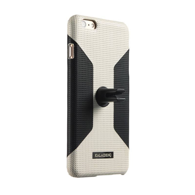 Kalaideng Drive Car Case Stand Back Cover Main White Casing for iPhone 6 Plus [5.5 Inch]