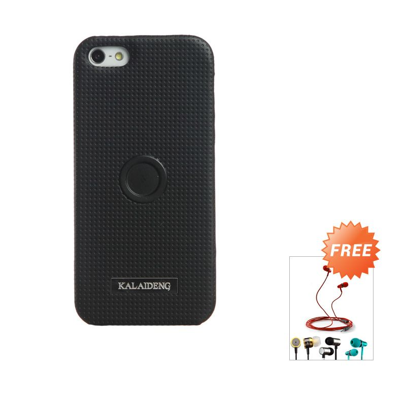 Kalaideng Drive Series Black Back Casing for iPhone 5 or 5s or SE + Earphone