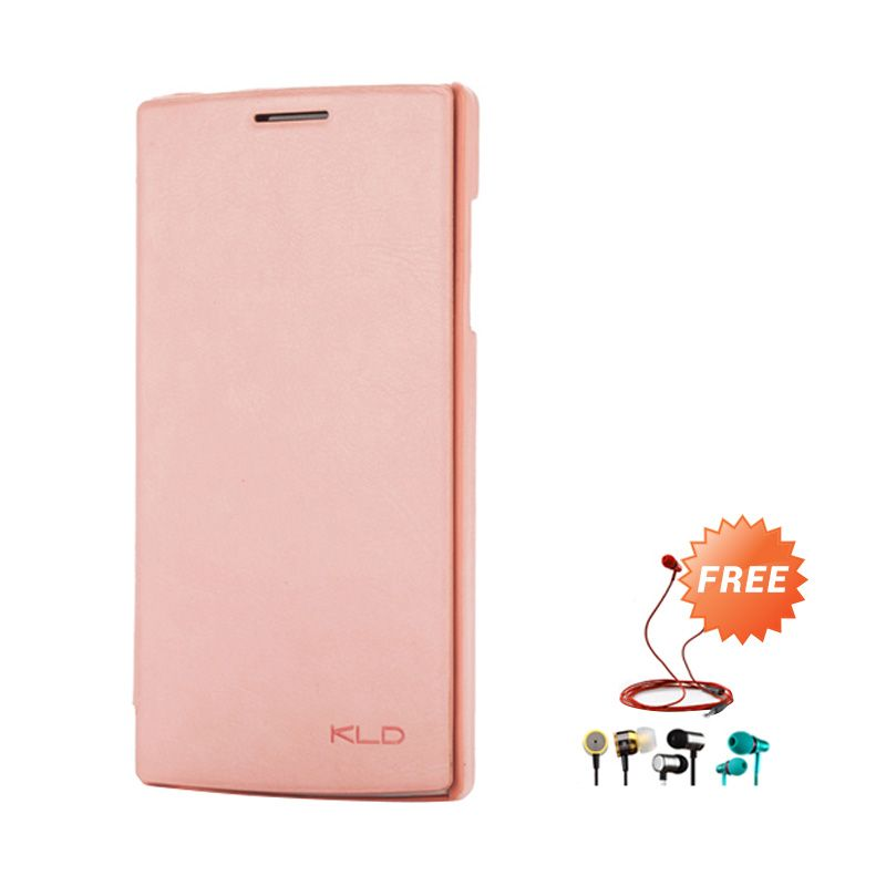 Kalaideng Enland Leather Flip Cover Series Peach Casing for OPPO FIND 5 + Earphone
