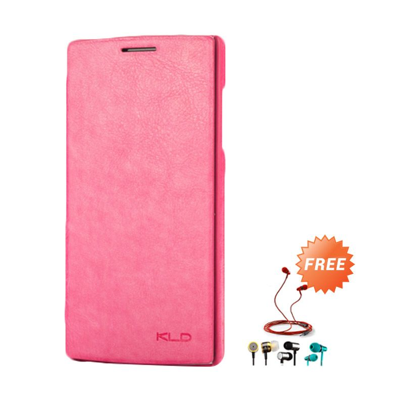 Kalaideng Enland Leather Flip Cover Series Pink Casing for OPPO FIND 5 + Earphone