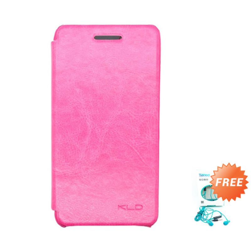Kalaideng Enland Series Flip Cover Leather Case Pink Casing for Blackberry Z10 + Earphone