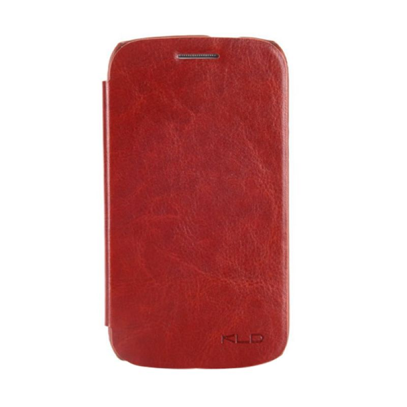 Kalaideng Enland Series Leather Cokelat Casing for Galaxy Core i8260