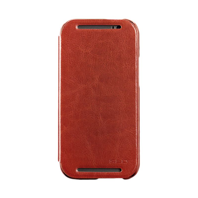 Kalaideng Enland Series Leather Cokelat Casing for HTC One M8