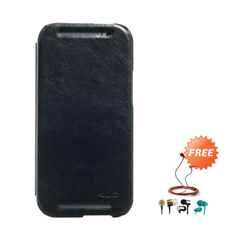 Kalaideng Enland Series Leather Hitam Casing for HTC ONE M8 + Earphone