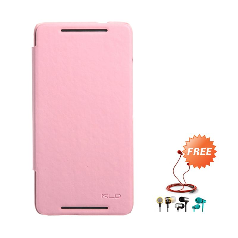 Kalaideng Enland Series Leather Peach Casing for HTC ONE MAX 8088 + Earphone