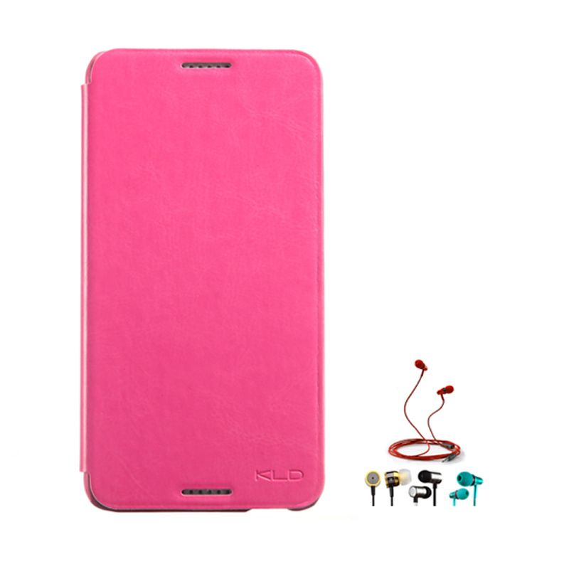 Kalaideng Enland Series Leather Pink Casing for HTC Desire 816 + Earphone