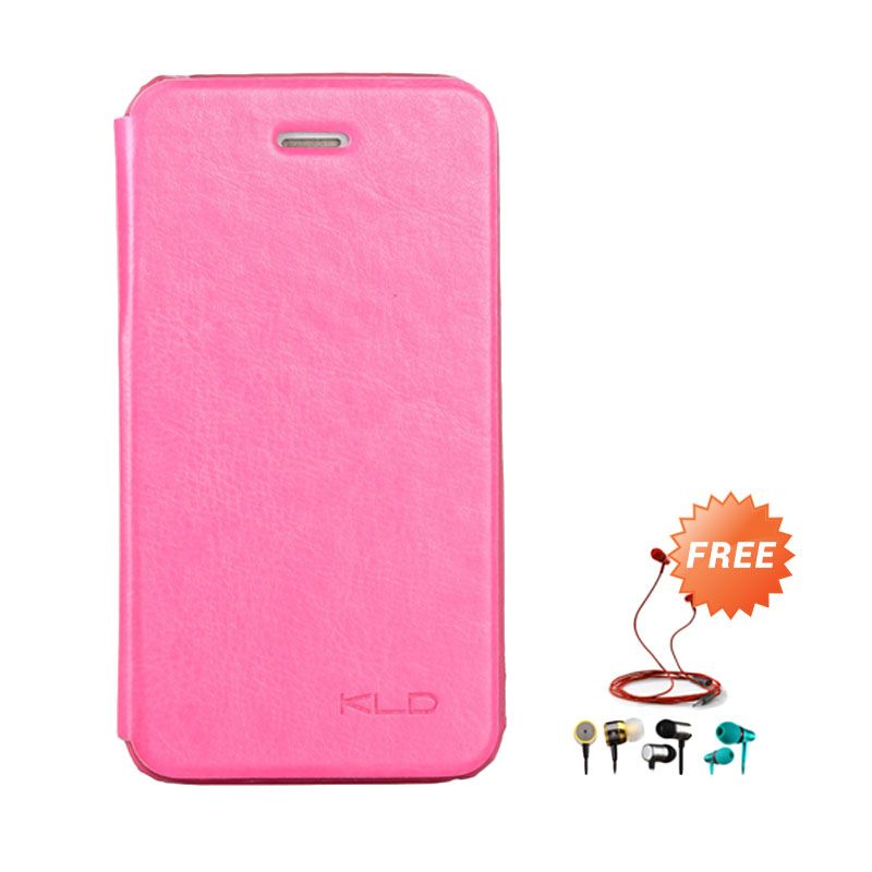 Kalaideng Enland Series Leather Pink Casing for iPhone 4 or 4S + Earphone