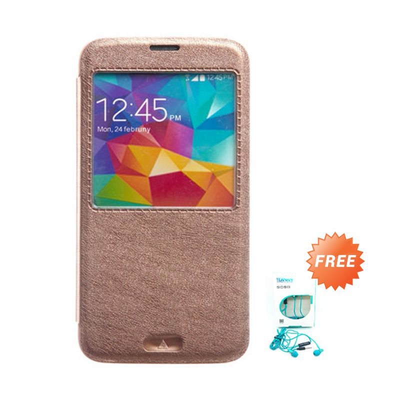 Kalaideng KA Series Cokelat Leather Casing for Samsung Galaxy S5 + Earphone