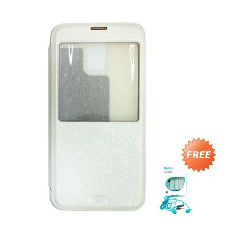 Kalaideng KA Series Putih Leather Casing for Samsung Galaxy S5 + Earphone