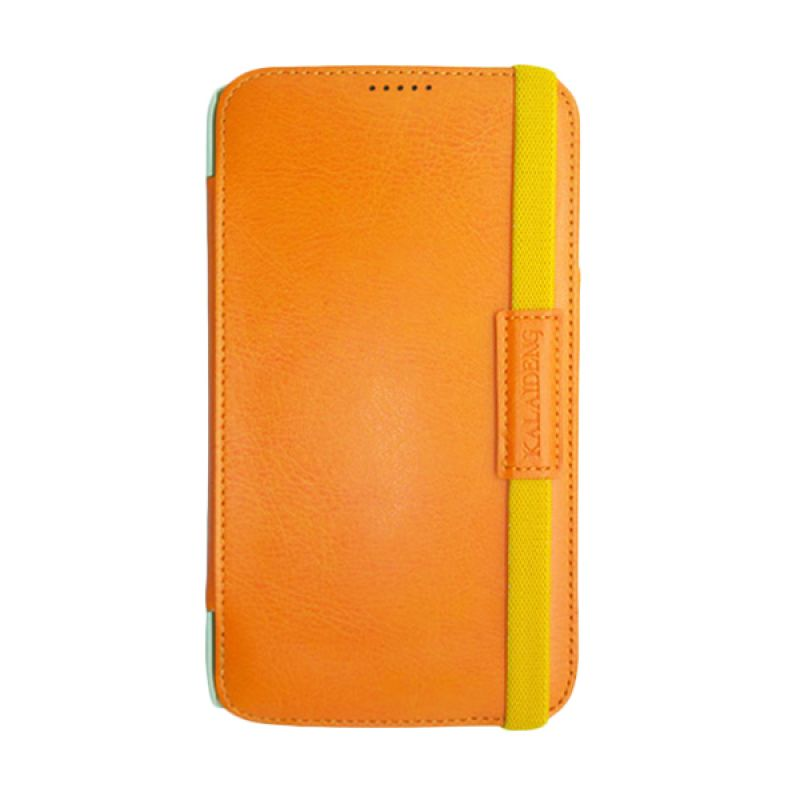 Kalaideng My Love Series Leather Case Orange Casing for Samsung Galaxy Mega 6.3 i9200