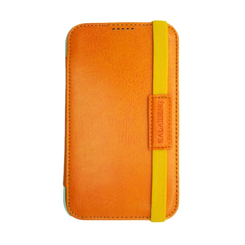 Kalaideng My Love Leather Flip Cover Orange Casing for Samsung Galaxy Note 2