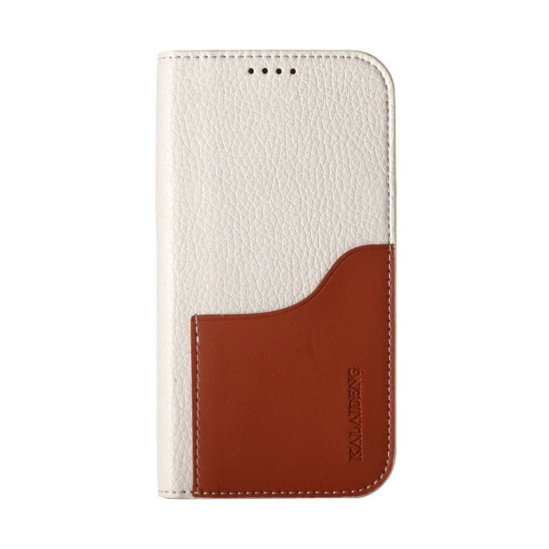 Kalaideng ROO Leather Flip Cover Beige Casing for Samsung Galaxy Note 2