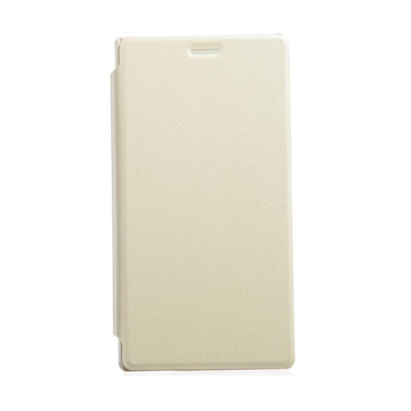 Kalaideng Swift Series Leather Cream Putih Casing for Sony Xperia M2