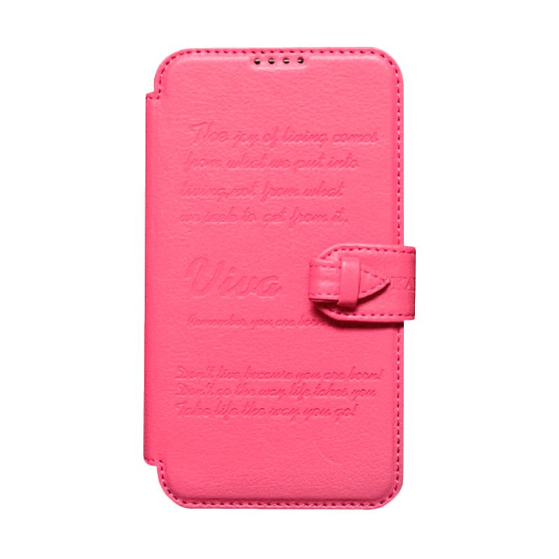 Kalaideng Viva Leather Flip Cover Pink Casing for Samsung Galaxy Note 2