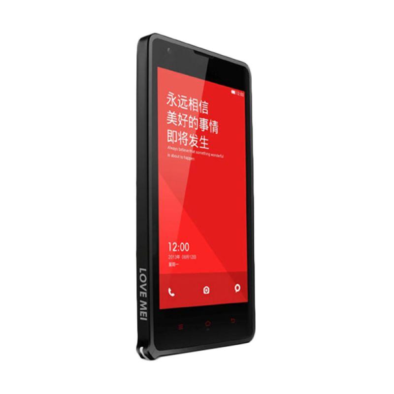 Love Mei Metal Bumper Hitam Casing for Xiaomi Redmi Note