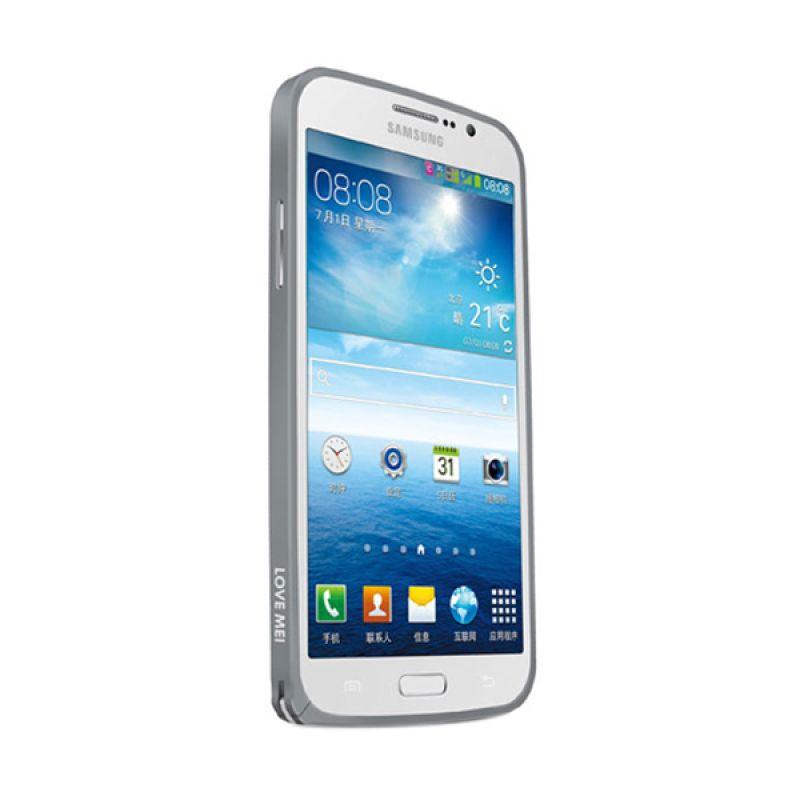 Love Mei Metal Bumper Abu-abu Casing for Samsung Galaxy Mega 5.8