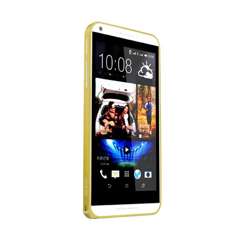 Love Mei Metal Bumper Gold Casing for HTC Desire 816
