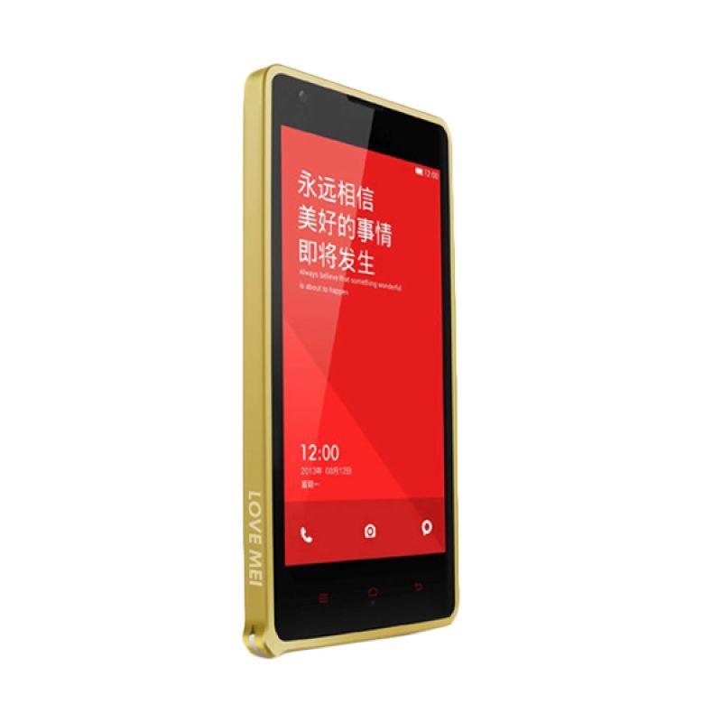 Love Mei Metal Bumper Gold Casing for Xiaomi Redmi Note