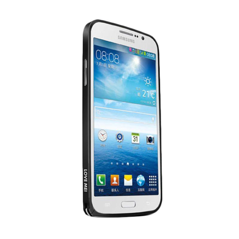 Love Mei Metal Bumper Hitam Casing for Samsung Galaxy Mega 5.8