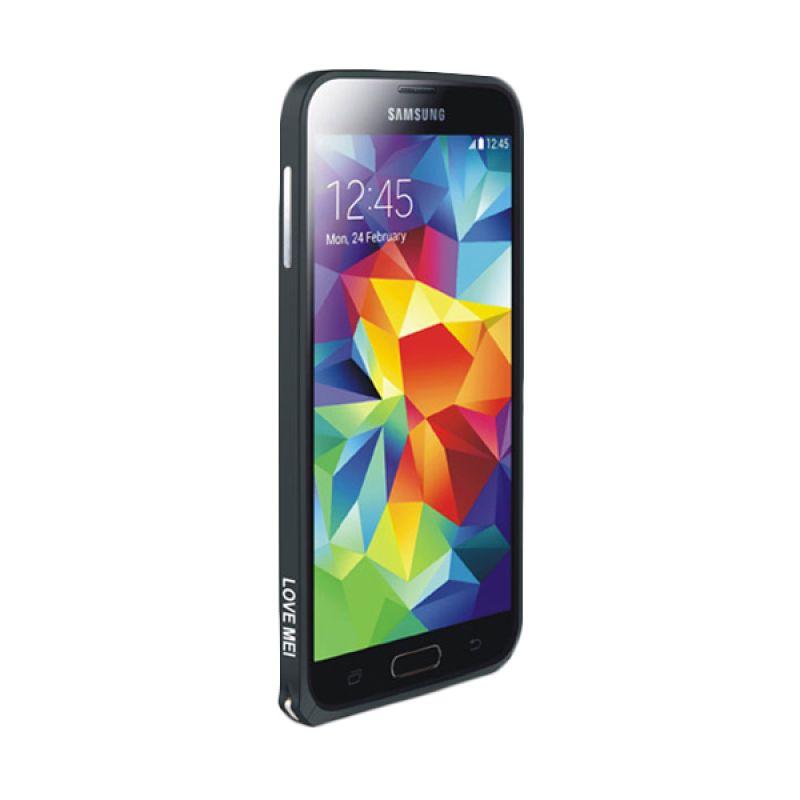 Love Mei Metal Bumper Hitam Casing for Samsung Galaxy S5