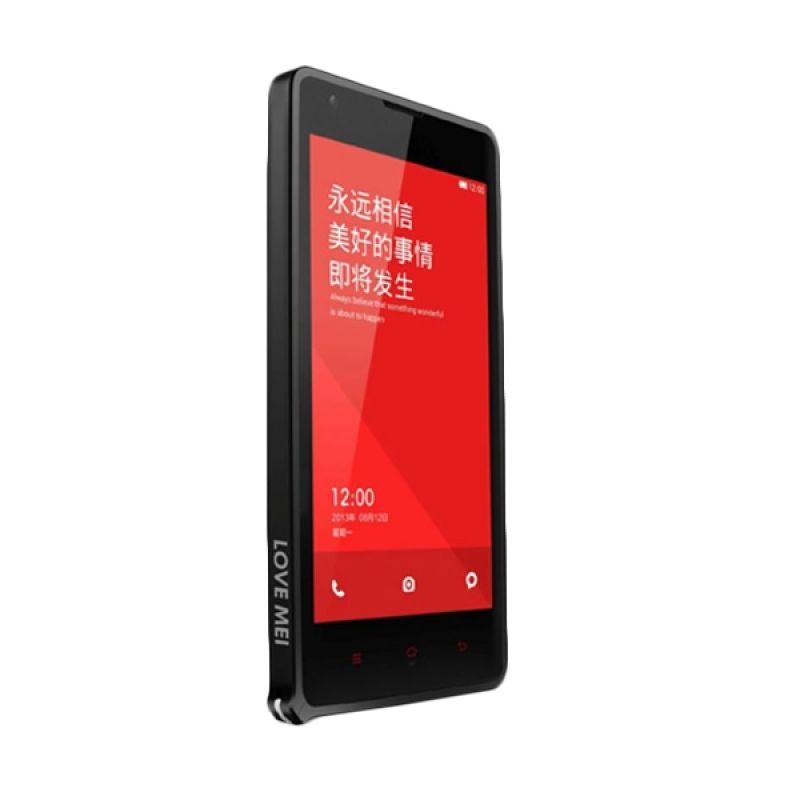 Love Mei Metal Bumper Hitam Casing for Xiaomi Redmi 1S