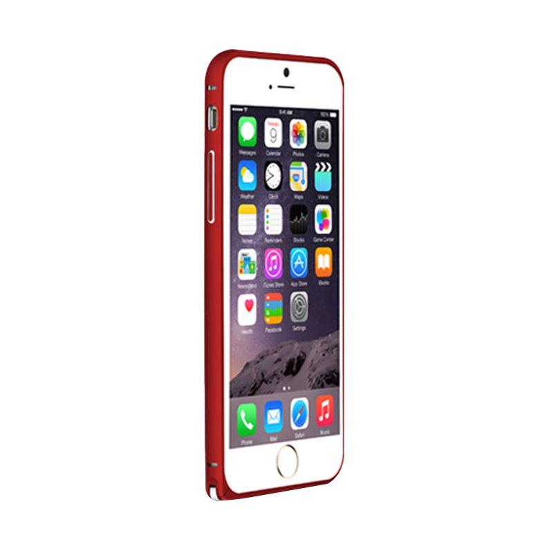 Love Mei Metal Bumper Merah Casing for iPhone 6