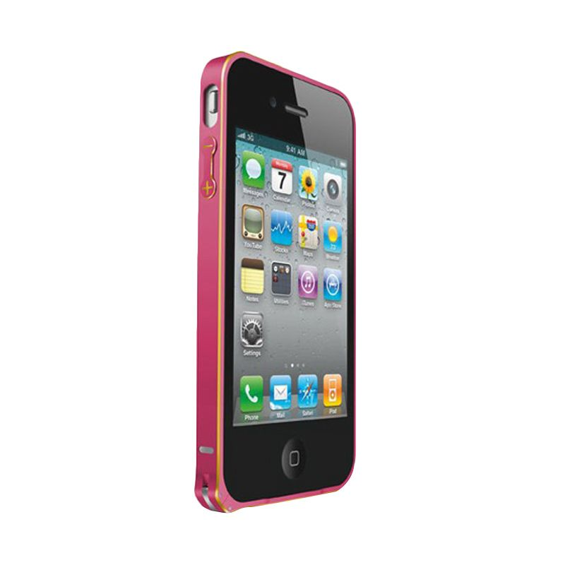Love Mei Metal Bumper Pink Casing for iPhone 4 or 4s
