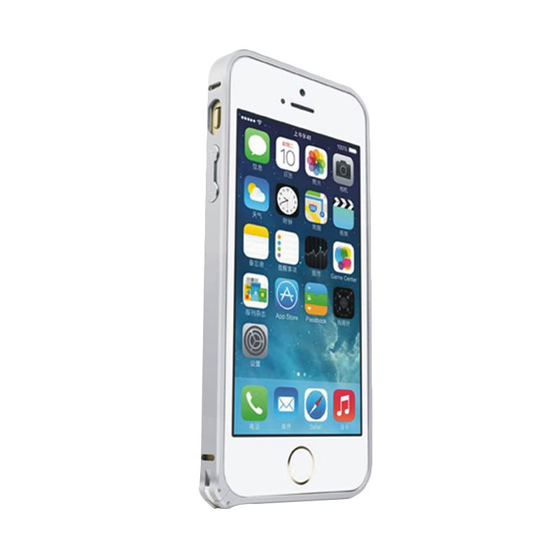 Love Mei Metal Bumper Silver Casing for iPhone 5 or 5s or SE