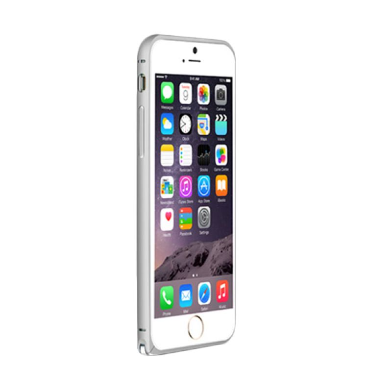 Love Mei Metal Bumper Silver Casing for iPhone 6