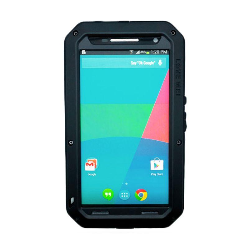 Love Mei Powerful Bumper Hitam Casing for Motorola Nexus 6