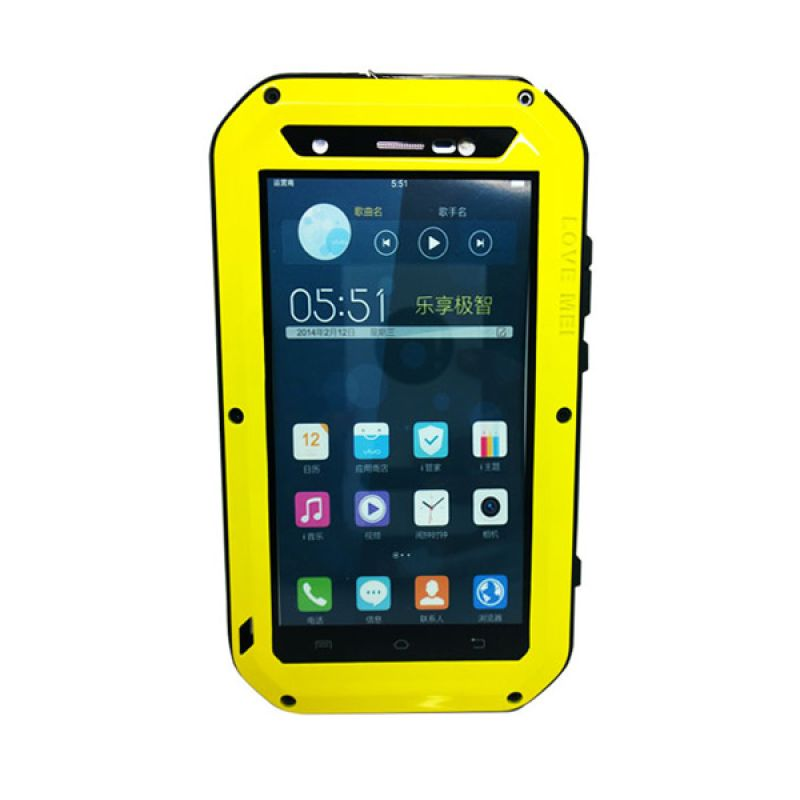 Love Mei Powerful Bumper with Gorilla Glass Kuning Casing for Vivo Xshot