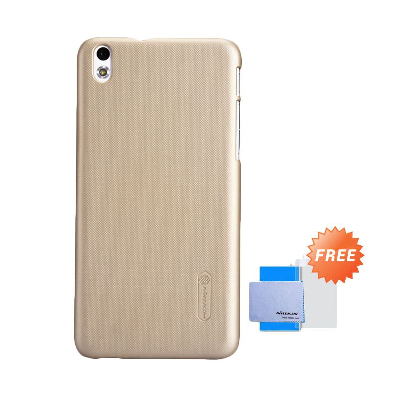 Nillkin Frosted Shield Gold Casing for HTC Desire 816 + Screen Guard