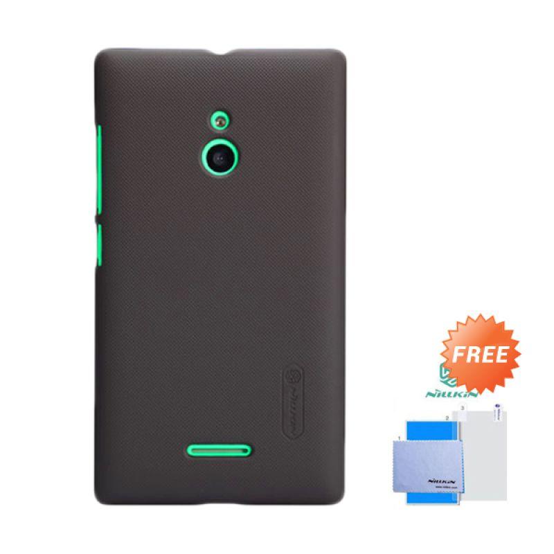 Nillkin Frosted Shield Cokelat Hardcase Casing for Nokia XL + Screen Guard