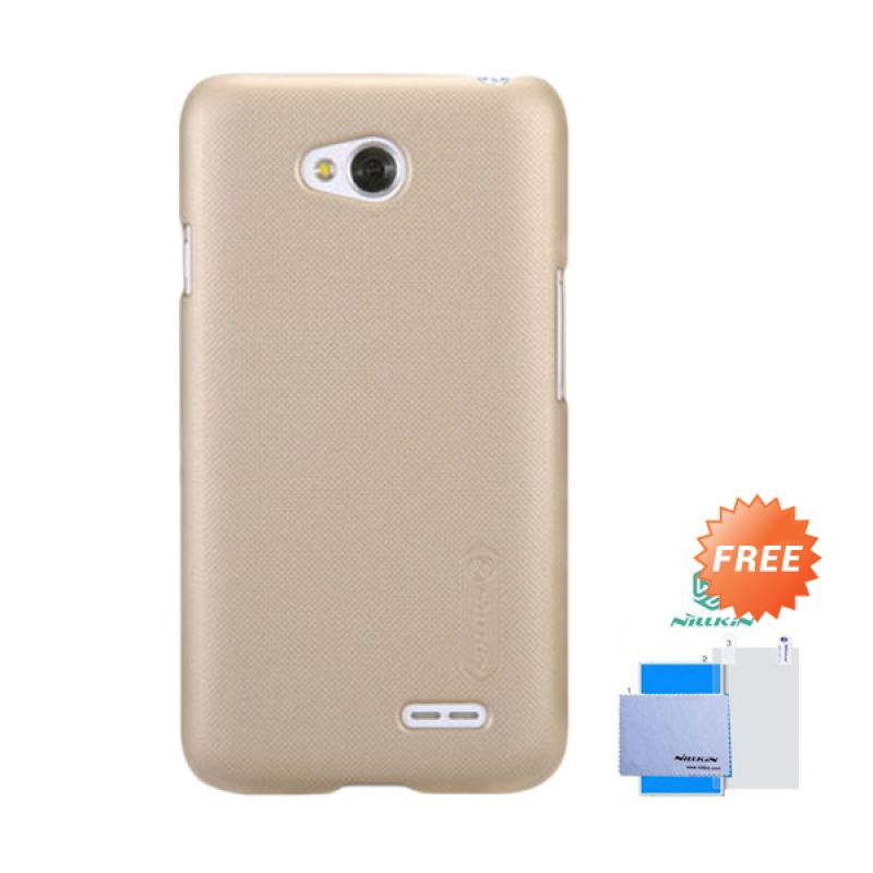 Nillkin Frosted Shield Gold Hardcase Casing for LG L70 + Screen Guard