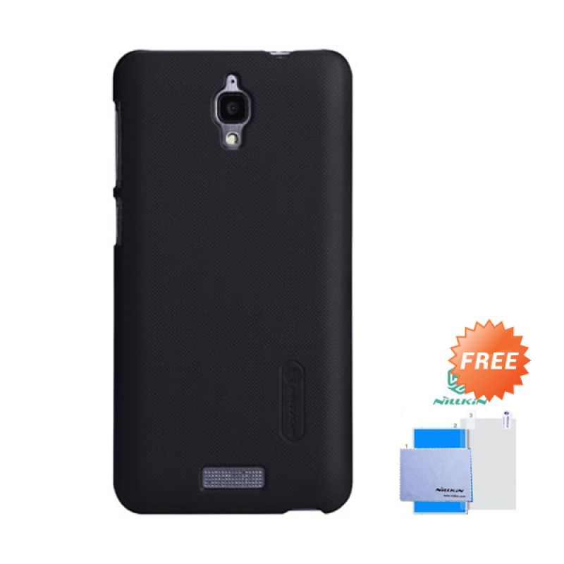 Nillkin Frosted Shield Hitam Hardcase Casing for Lenovo S660 + Screen Guard