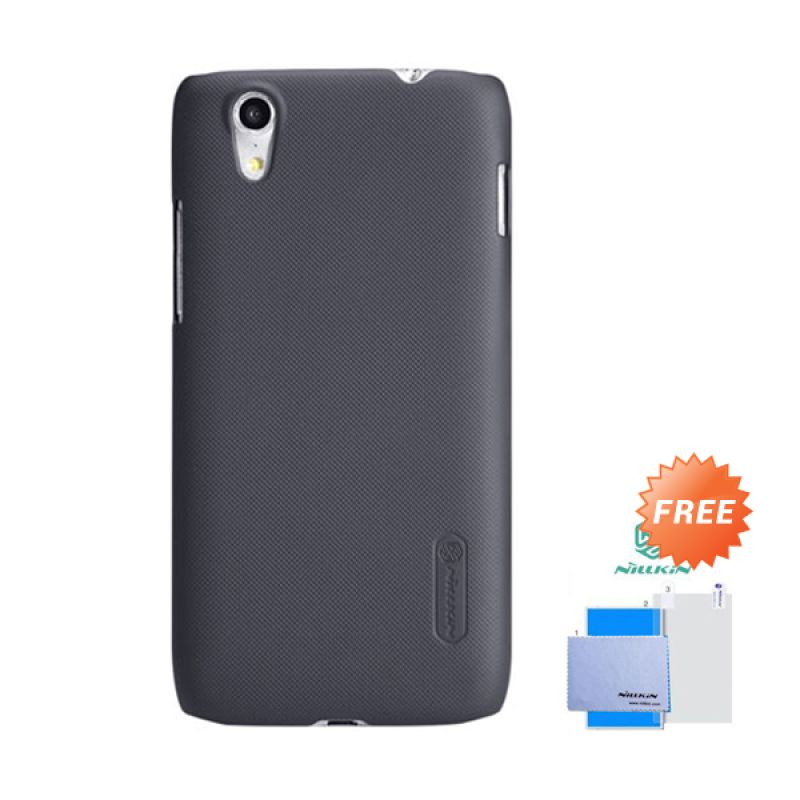 Nillkin Frosted Shield Hitam Hardcase Casing for Lenovo Vibe X + Screen Guard