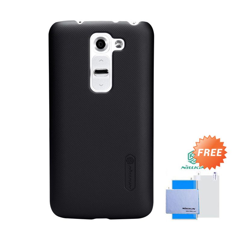 Nillkin Frosted Shield Hitam Hardcase Casing for LG G2 Mini + Screen Guard