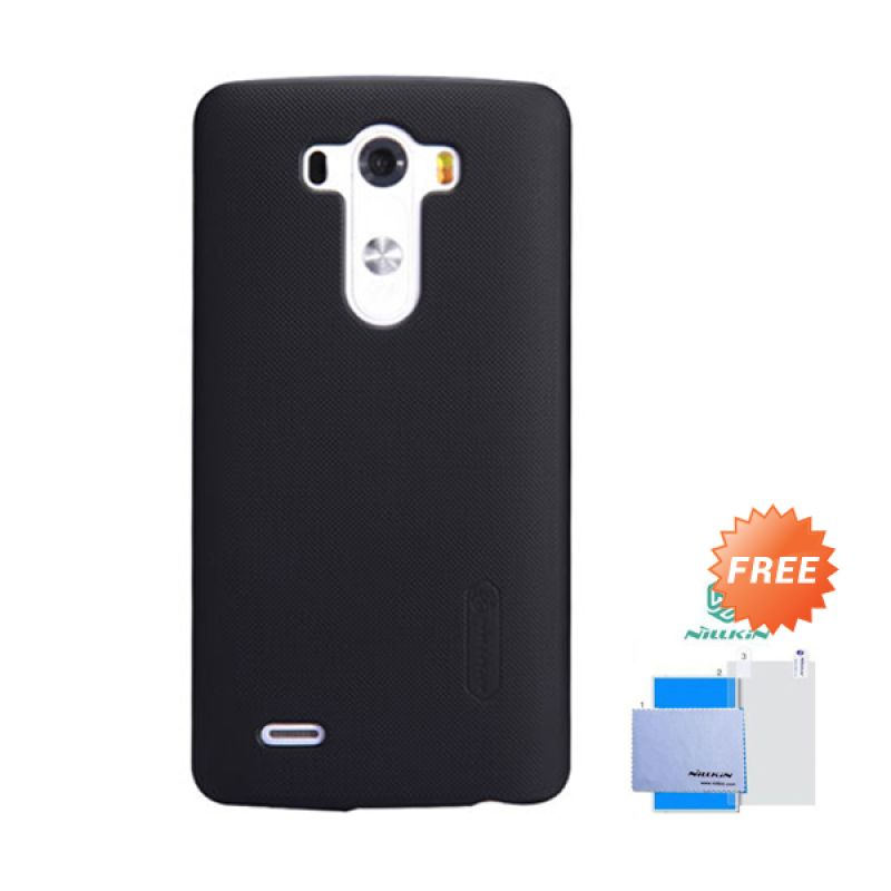 Nillkin Frosted Shield Hitam Hardcase Casing for LG G3 + Screen Guard