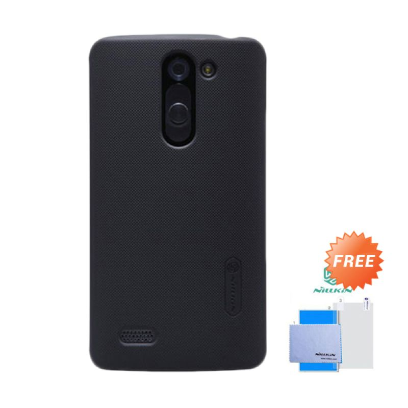 Nillkin Frosted Shield Hitam Hardcase Casing for LG L Bello + Screen Guard