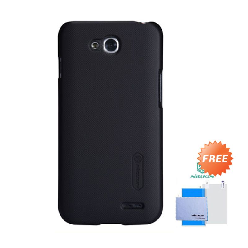 Nillkin Frosted Shield Hitam Hardcase Casing for LG L90 + Screen Guard
