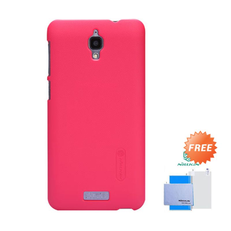 Nillkin Frosted Shield Merah Hardcase Casing for Lenovo S660 + Screen Guard