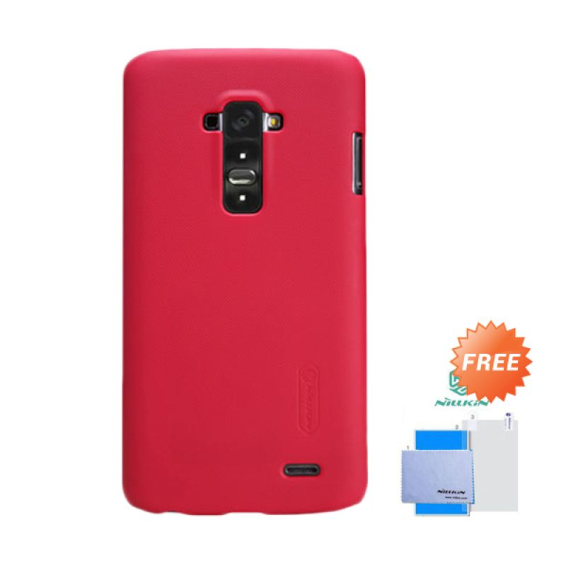 Nillkin Frosted Shield Merah Hardcase Casing for LG G FLEX + Screen Guard