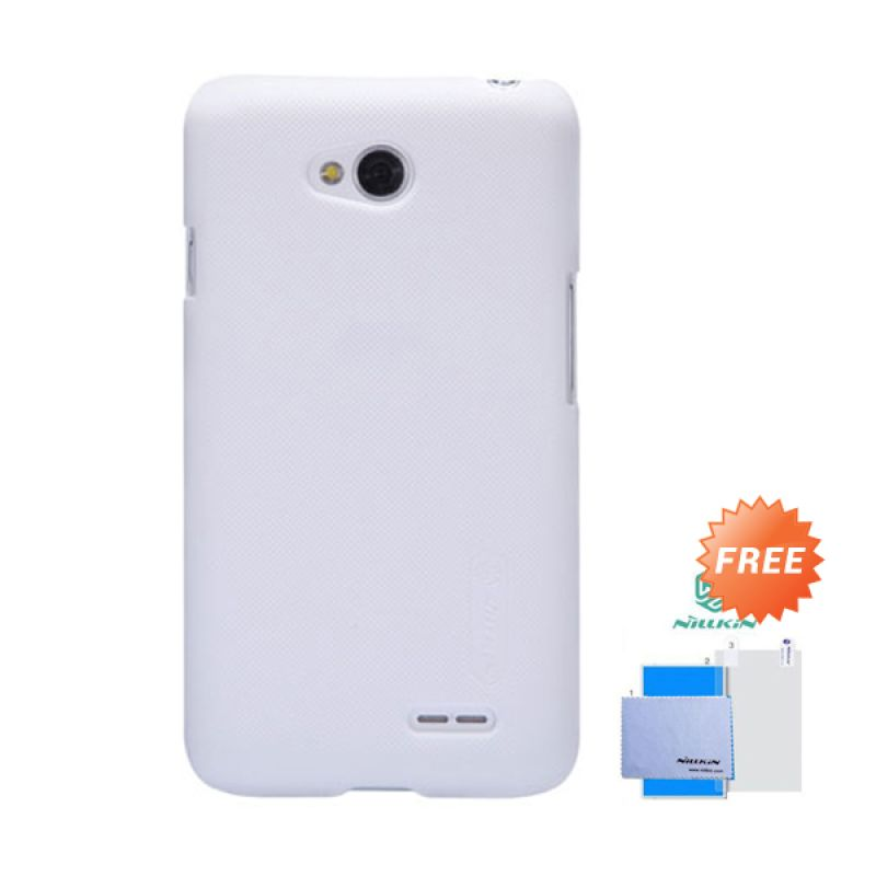 Nillkin Frosted Shield Putih Hardcase Casing for LG L70 + Screen Guard
