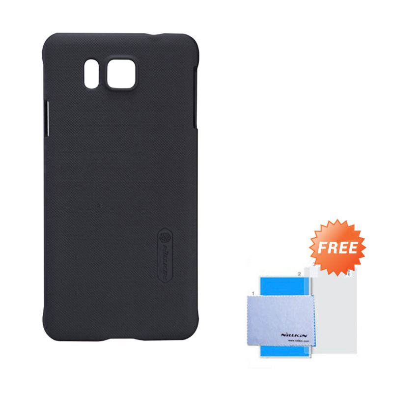 Nillkin Frosted Shield Black Hardcase Casing for Samsung Galaxy Alpha + Screen Guard