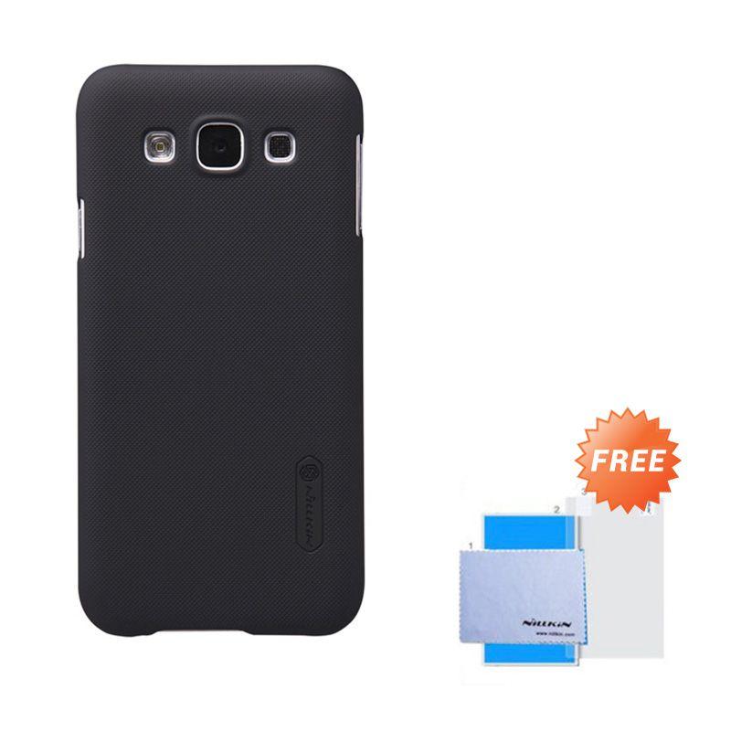Nillkin Frosted Shield Black Hardcase Casing for Samsung Galaxy E5 + Screen Guard