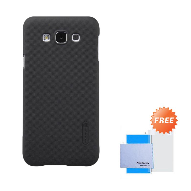 Nillkin Frosted Shield Black Hardcase Casing for Samsung Galaxy E7 + Screen Guard